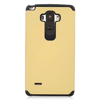 Insten Hard Dual Layer Rubber Coated Silicone Case For LG G Stylo/G Vista 2 - Gold/Black