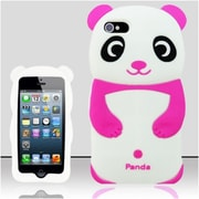 Insten Hot Pink Pink 3D Panda Bear Silicone Soft Skin Case Cover For Apple iPhone SE 5