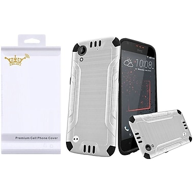 Insten Hard Dual Layer TPU Cover Case with Screen Protector For HTC Desire 530 - White/Black
