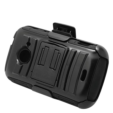 Insten Stand Dual Layer Hybrid Case with Holster For ZTE Prelude 2/Whirl 2/Zinger - Black