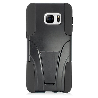 Insten Hard Hybrid Plastic Silicone Case with stand For Samsung Galaxy S6 Edge Plus - Black