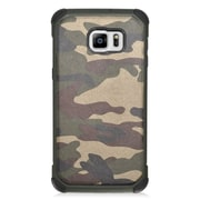 Insten Camouflage Hard Hybrid Rubber Silicone Case For Samsung Galaxy S6 Edge Plus - Green/Black