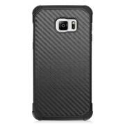Insten Carbon Fiber Hard Dual Layer Case For Samsung Galaxy S6 Edge Plus - Black