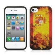 Insten TPU Imd Flag Design Rubber Skin Gel Back Shell Case For Apple iPhone 4 / 4S - Spain