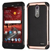 Insten Hard Dual Layer TPU Case For ZTE Damon / Grand X 4 - Black/Rose Gold