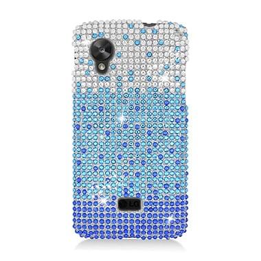 Insten Waterfall Hard Diamond Case For LG Google Nexus 5 D820 - Blue/Silver