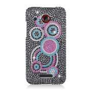 Insten Circles Hard Bling Case For HTC Droid DNA - Black/Pink