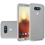 Insten Frosted TPU Rubber Skin Back Gel Shell Cover Case For LG G6 - Clear