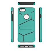 Insten For Apple iPhone 7 HLX Hybrid PC TPU Kickstand Shockproof Case Cover - Teal/Black