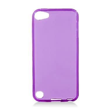 Insten Rubber Transparent Cover Case For Apple iPod Touch 5th Gen - Purple