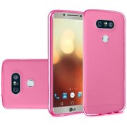 Insten Frosted TPU Rubber Skin Back Gel Shell Cover Case For LG G6 - Hot Pink