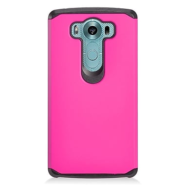 Insten Hard Dual Layer Silicone Case For LG V10 - Hot Pink/Black
