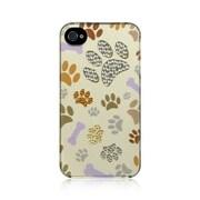 Insten Spot Diamond Bling Hard Back Cover Case For Apple iPhone 4 / 4S - Bone Bone Paw