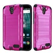Insten Hard Hybrid TPU Case For ZTE Warp 7 - Hot Pink/Black