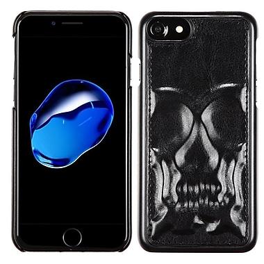 Insten Skullcap Leather Hybrid Fabric TPU Cover Case For Apple iPhone 7 - Black