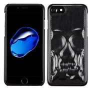 Insten Skullcap Leather Hybrid Fabric TPU Cover Case For Apple iPhone 7 - Black