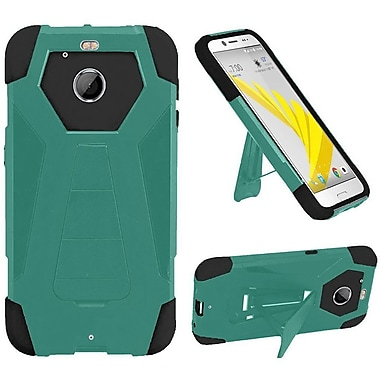 Insten Hard Dual Layer Plastic Silicone Case w/stand For HTC 10 / Bolt - Teal/Black