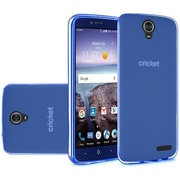 Insten Frosted TPU Rubber Skin Back Gel Shell Cover Case For ZTE Grand X 4 - Dark Blue