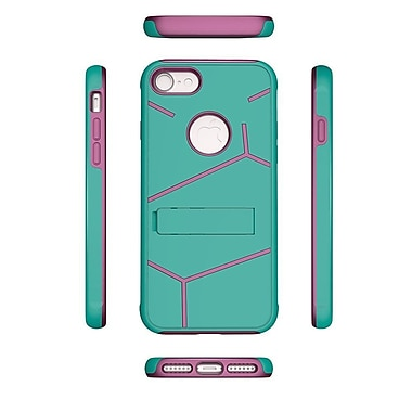 Insten For Apple iPhone 7 HLX Hybrid PC TPU Kickstand Shockproof Case Cover - Teal/Hot Pink