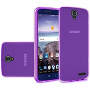 Insten Frosted TPU Rubber Skin Back Gel Shell Cover Case For ZTE Grand X 4 - Purple