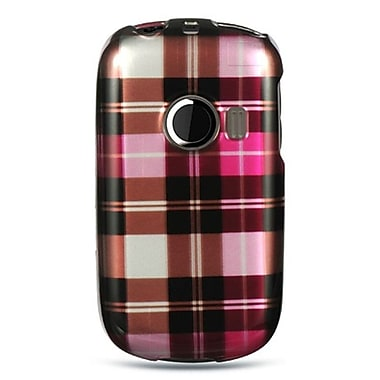 Insten Checker Design Hard Crystal Skin Back Cover Case For Huawei M835 - Black/Hot Pink