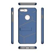 Insten For Apple iPhone 7 Plus HLX Hybrid PC TPU Kickstand Shockproof Case - Dark Blue/Grey