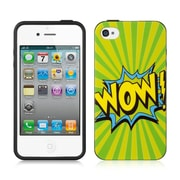 Insten TPU Imd Design Rubber Skin Gel Back Shell Case Cover For Apple iPhone 4 / 4S - Wow