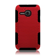Insten TPU Rubber Hard PC Candy Skin Mesh Case Cover For Alcatel One Touch Evolve - Black/Red