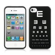 Insten Hard Cover Case For Apple iPhone 4 / 4S - Black/White
