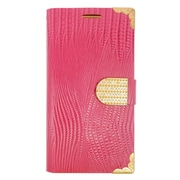 Insten Flip Leather Wallet Case with card slot For Samsung Galaxy S6 Edge Plus - Pink/Gold