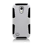 Insten TPU Rubber Hard PC Candy Skin Mesh Case Cover For Samsung Galaxy S4 Mini - White/Black