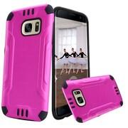 Insten Hard Dual Layer TPU Case For Samsung Galaxy S7 Edge - Hot Pink/Black