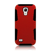 Insten TPU Rubber Hard PC Candy Skin Mesh Case Cover For Samsung Galaxy S4 Mini - Red/Black
