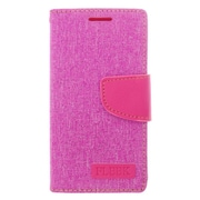Insten Leather Wallet Case with Card slot & Photo Display For LG Leon/Power/Tribute 2/Destiny/Risio - Pink