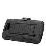 Insten Stand Dual Layer Hybrid Case with Holster For LG Optimus Zone 3 / Spree - Black