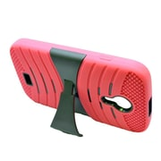 Insten Wave Symbiosis Rubber Dual Layer Hard Cover Case w/stand For BLU Studio 5 - Red/Black