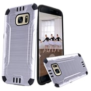 Insten Hard Hybrid TPU Cover Case For Samsung Galaxy S7 Edge - Silver/Black