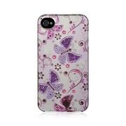 Insten Spot Diamond Bling Hard Back Cover Case For Apple iPhone 4 / 4S - Lady Butterfly
