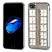 Insten Hard Rhinestone TPU Case For Apple iPhone 7 - Silver