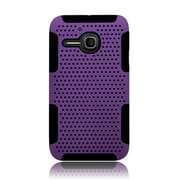Insten TPU Rubber Hard PC Candy Skin Mesh Case Cover For Alcatel One Touch Evolve - Purple/Black