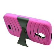 Insten Wave Symbiosis Rubber Dual Layer Hard Case w/stand For BLU Studio 5 - Pink/Black
