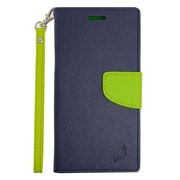 Insten Leather Wallet Case with Card slot & Lanyard For Samsung Galaxy S6 Edge Plus - Dark Blue/Green