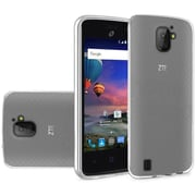 Insten Frosted Rubber Case For ZTE Citrine - Clear