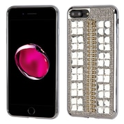 Insten Hard Bling TPU Cover Case For Apple iPhone 7 Plus - Silver