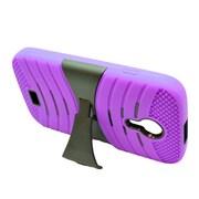 Insten Wave Symbiosis Soft Hybrid Rubber Hard Case w/stand For BLU Studio 5 - Purple/Black