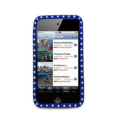 Insten Soft Rubber Case w/Diamond For Apple iPod Touch 4th Gen - Blue