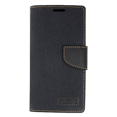 Insten Leather Wallet Case with Card slot & Photo Display For LG Leon/Power/Tribute 2/Destiny/Risio - Black
