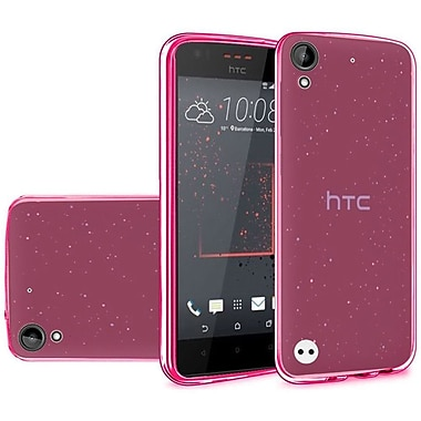 Insten Frosted Gel Cover Case For HTC Desire 530 - Hot Pink