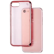 Insten TPU Rubber Glassy SPOTS Electroplated Premium Candy Skin Cover Case For Apple iPhone 7 - Rose Gold