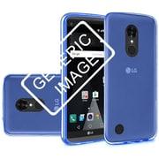 Insten Frosted TPU Rubber Skin Back Gel Shell Cover Case For Motorola Moto G5 Plus - Dark Blue
